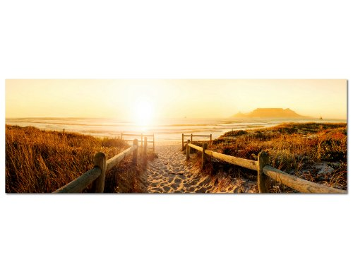 panorama bild 150x50cm strand steg meer nordseestrand. Black Bedroom Furniture Sets. Home Design Ideas