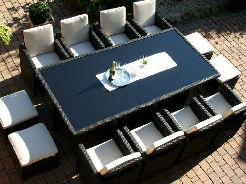 polyrattan rattan geflecht garten sitzgruppe toscana xxl. Black Bedroom Furniture Sets. Home Design Ideas