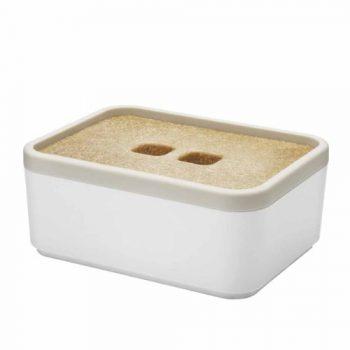 emsa 508528 butterdose edelstahl 10 x 17 x 7 5 cm silber accenta online kaufen bei woonio. Black Bedroom Furniture Sets. Home Design Ideas
