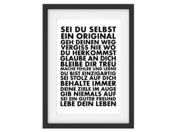 Shabby-Vintage-Kunstduck-SEI-DU-SELBST-Motivation-Poster-Wanddekoration-DIN-A4-0
