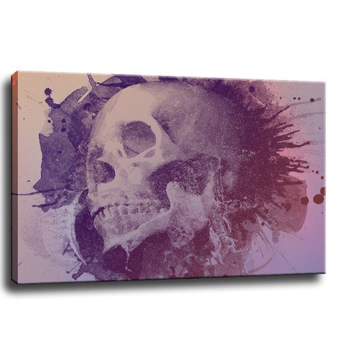 Skull-Bild-auf-Leinwand-100x70-cm-0