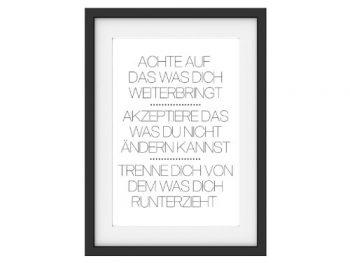 Vintage-Druck-Poster-ACHTE-AUF-DAS-Motivation-Print-Typografie-Kunstdruck-DIN-A3-0