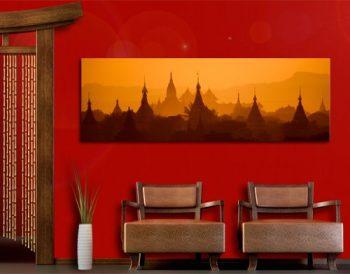 WTD-42108-Leinwandbild-No165-Tempelstadt-in-Myanmar-120-x-40-cm-0