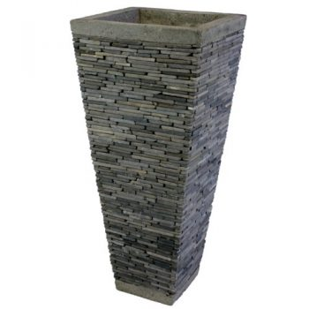 Wuona-Obects-Balinesische-Stein-Vase-80-cm-Eckig-Grauer-Marmor-0