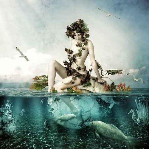 XL-Luxus-Bild-Leinwandbild-Water-Woman-8080-cm-Galeriequalitt-Einzelanfertigung-0