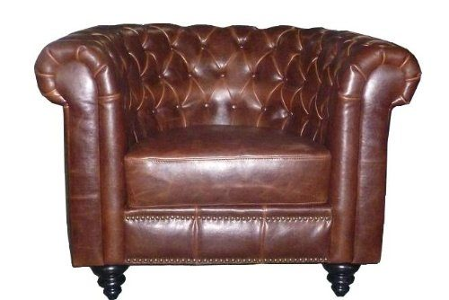 AC-Design-Furniture-46720-Chesterfieldsessel-Henning-circa-99-x-78-x-59-cm-Bezug-Bycast-Leder-braun-0