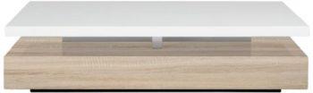 AC-Design-Furniture-48922-Couchtisch-Jonte-Sonoma-Eiche-Nachbildung-ca-117-x-29-x-58-cm-wei-hochglanz-0