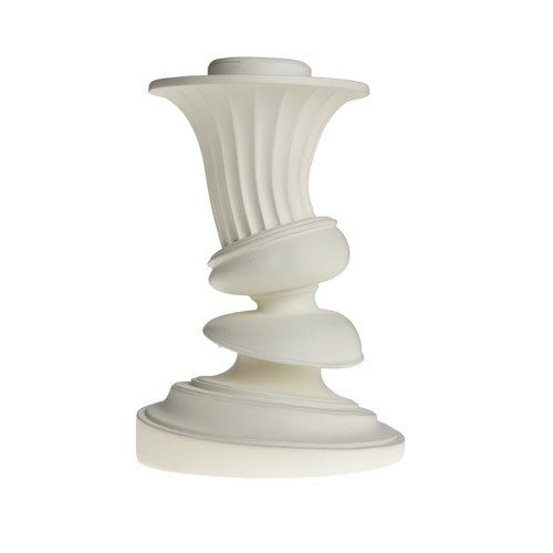 AREAWARE-Distortion-Candlestick-SM-Fluted-white-Kerzenhalter-weiss-0