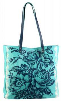 Amy-Butler-USA-Tasche-ALISSA-Shopper-Ledertasche-trkis-edel-aus-feinstem-Leder-mit-Aufdruck-0