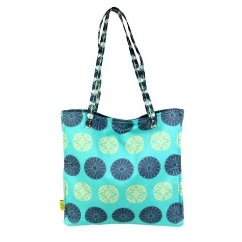 Amy-Butler-USA-Tasche-SARA-Design-pressed-flower-mint-Shopper-Tragetasche-organic-cotton-0