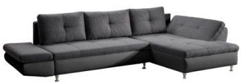 Cavadore-457-Polsterecke-Coutre-2er-Bett-Longchair-mit-einseitiger-Armteilfunktion-325-x-89-x-186-cm-Toscana-graphite-Bison-schwarz-0