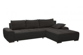 Cavadore-952-Polsterecke-Avengos-2-er-Bett-Longchair-304-x-84-x-200-cm-Orlando-antrazit-bison-schwarz-0