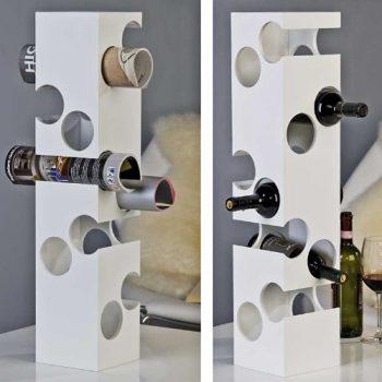 Designer-Weinflaschenstnder-Weinregal-Corner-aus-Holz--wei-fr-10-Flaschen-76-x-16-x-16-cm-0