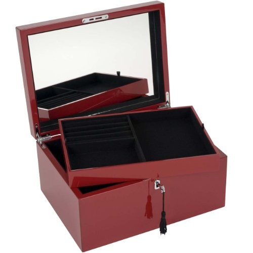 giftcompany tang schmuckbox mit schloss l rot mdf rot 31x15x23cm online kaufen bei woonio. Black Bedroom Furniture Sets. Home Design Ideas