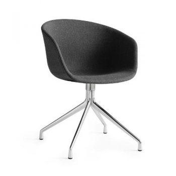 HAY-About-a-Chair-Armlehndrehstuhl-gepolstert-asche-Stoff-Remix-183-Gestell-aluminium-poliert-0