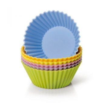 Kaiser-646268-Muffin-World-6-Silikon-Muffinformen-7-cm-farbig-sortiert-0