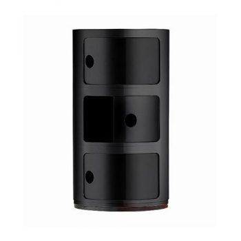 Kartell-496709-Container-Componibili-schwarz-0