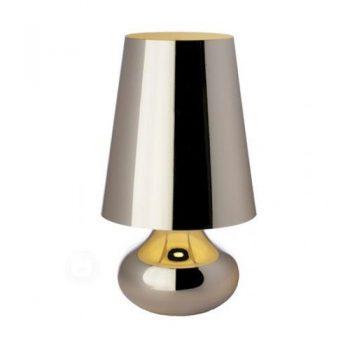 Kartell-9100M1-Nachttischlampe-Cindy-platin-0