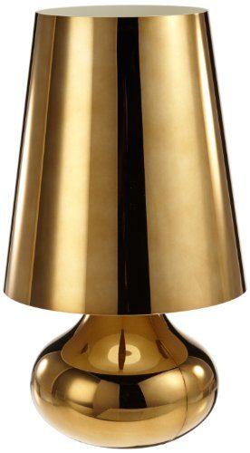 Kartell-9100M2-Nachttischlampe-Cindy-dunkel-gold-0
