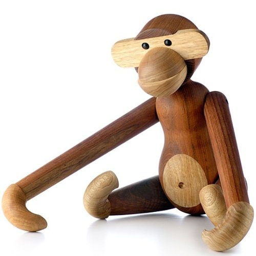 kay bojesen wooden figurine monkey small teakwood limba matt online kaufen bei woonio. Black Bedroom Furniture Sets. Home Design Ideas