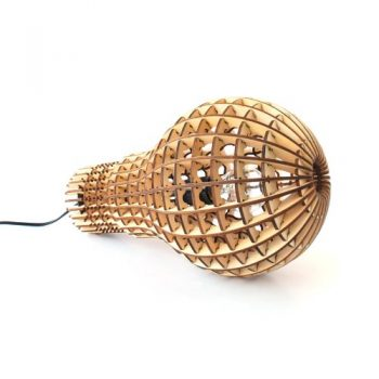 Suck-UK-Wooden-BulbDesigner-Lampe-225-x-39-x-225-cm-Holz-SKWOODBULB1-0