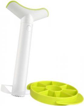 Vacu-vin-4862260-Ananasschneider-Deluxe-Kunststoff-mit-Zerteiler-J-Hook-0