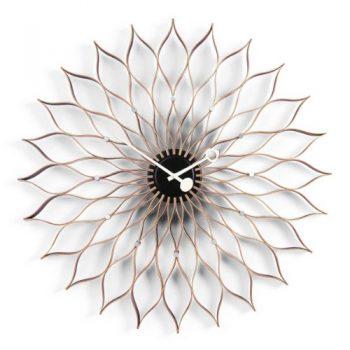 Vitra-20125601-Sunflower-Clock--750-mm-Birke-schwarz-Quarz-Uhrwerk-inklusiv-15-V-Batterie-0