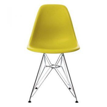 Vitra-440022000134-Stuhl-DSR-Eames-Plastic-Sidechair-Gestell-Verchromt-senf-0