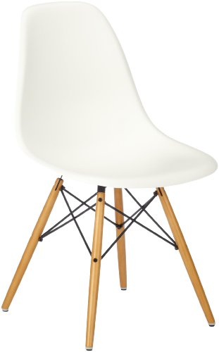 vitra 440023000231 eames chair dsw plastic frame maple seat white online kaufen bei woonio. Black Bedroom Furniture Sets. Home Design Ideas