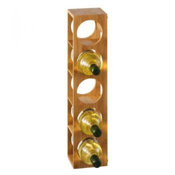 Zeller-13565-Weinregal-135-x-125-x-53-cm-Bamboo-0