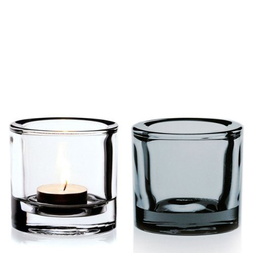 iittala kivi 2 piece tea light brilliant grey one size. Black Bedroom Furniture Sets. Home Design Ideas