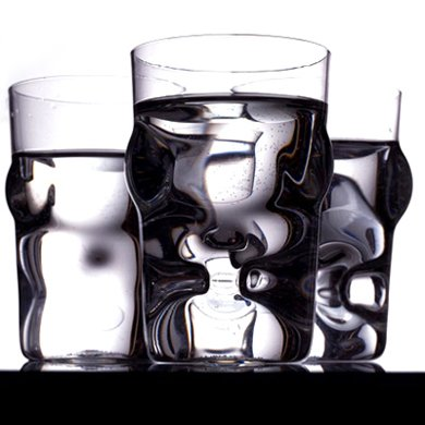 droog optic glasses 280ml pack of 4 funky. Black Bedroom Furniture Sets. Home Design Ideas