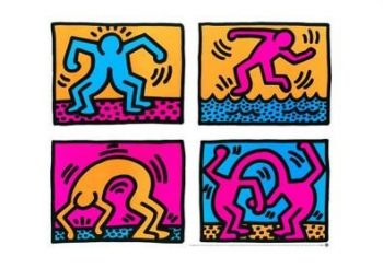 Keith-Haring-Poster-Kunstdruck-Pop-Shop-Quad-II-1988-0