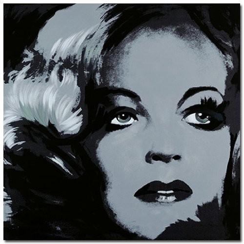 ROMY-SCHNEIDER-1-Digitaldruck-Gicle-auf-Leinwand-mit-Keilrahmen-gerahmt-Portrait-Variation-in-Schwarz-Grau-Pop-Art-im-Stile-Andy-Warhols-Starportrait-Serien-Bild-von-Gnter-Edlinger-Kunstartikel-Leinwa-0