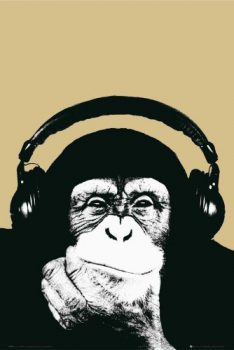 Steez-DJ-Chimp-Steez-Poster-Foto-Affen-Grsse-61x915-cm-0