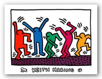 Untitled-Dancers-von-Keith-Haring-Kunstdruck-0