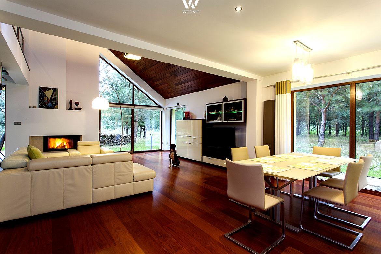 wohnideen offenen raum, gemütlich einladendes esszimmer im offenen raum - wohnidee by woonio, Design ideen