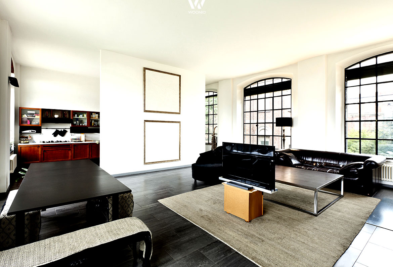Wohnungen sind heute sehr offen gestaltet und bieten Blicke in fast jeden Raum - Wohnidee by WOONIO