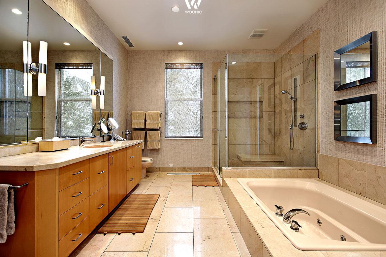 cremet ne mit warmem holz sind ausdruck von harmonie im. Black Bedroom Furniture Sets. Home Design Ideas