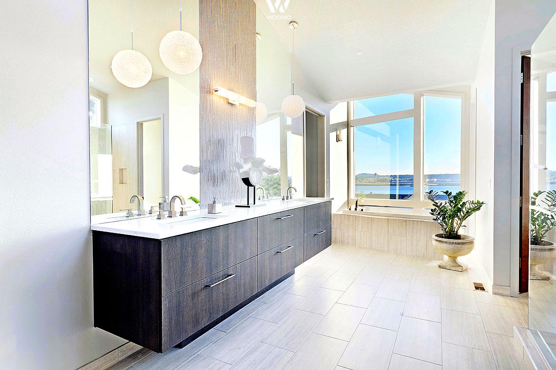 bei sehr hellen r umen eignen sich dunkle badm bel besonders gut wohnidee by woonio. Black Bedroom Furniture Sets. Home Design Ideas