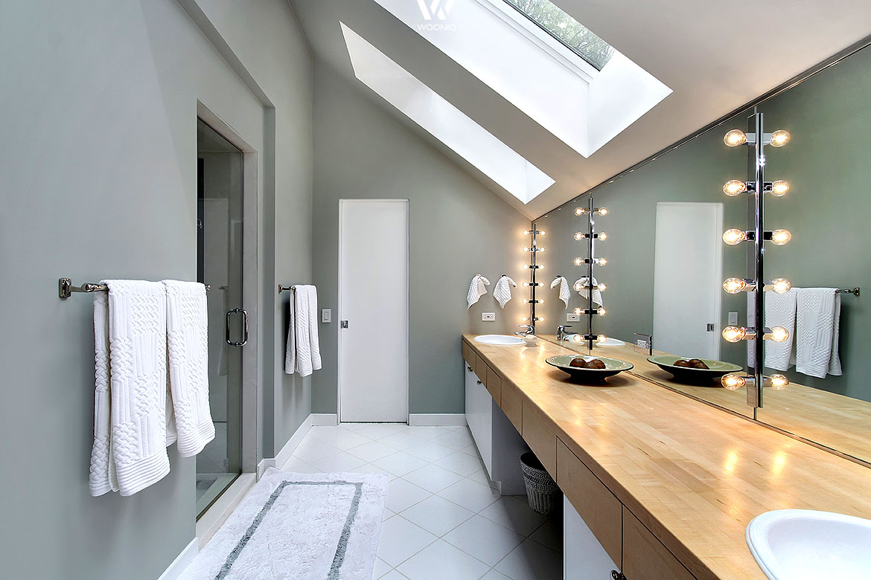 color blocking im badezimmer - streichen mit trendfarben - my ...