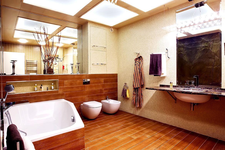 Wer viel holz mag wird dieses badezimmer lieben wohnidee for Badezimmergestaltung fotos