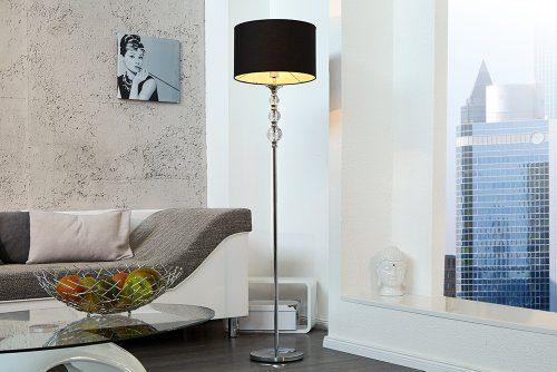 au ergew hnliche stehlampe allure schwarz silber online. Black Bedroom Furniture Sets. Home Design Ideas