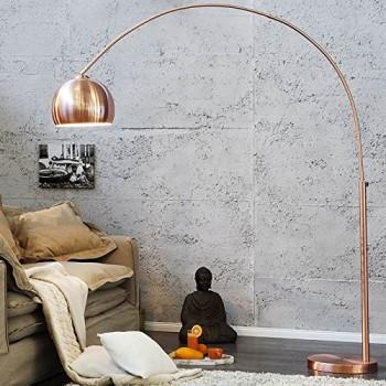 BIG-BOW-RETRO-DESIGN-LAMPE-stehlampe-bogenlampe-Kupfer-ohne-Dimmer-0
