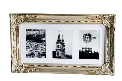 frank flechtwaren 220996 nostalgisch verzierter bilderrahmen barock antik silber bemalt mit. Black Bedroom Furniture Sets. Home Design Ideas