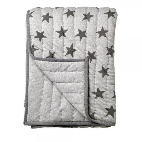 Bloomingville-Decke-mit-Sterneprint-grau-von-Bloomingville-0