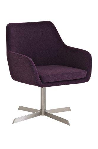 clp edelstahl lounge sessel bender modern weich gepolstert bis zu 4 farben w hlbar lila. Black Bedroom Furniture Sets. Home Design Ideas