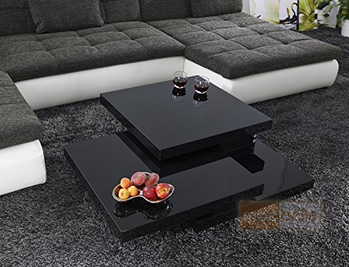 couchtisch cube schwarz hochglanz lack glas loungetisch tisch beistelltisch schwenkbar online. Black Bedroom Furniture Sets. Home Design Ideas