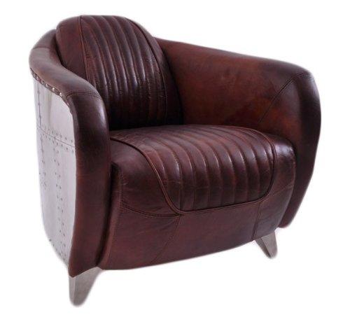 clubsessel aberford vintage leder aluminium online kaufen. Black Bedroom Furniture Sets. Home Design Ideas