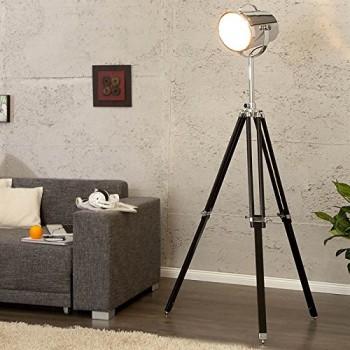 DESIGN-STEHLEUCHTE-HOLLYWOOD-160-cm-hhenverstellbare-Stehlampe-schwarz-chrom-0